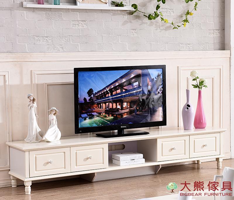 【大熊傢俱】杏之韓 HE009 韓式電視櫃 視聽櫃 CD櫃 儲物櫃 收納櫃 鄉村田園風 法式 長櫃