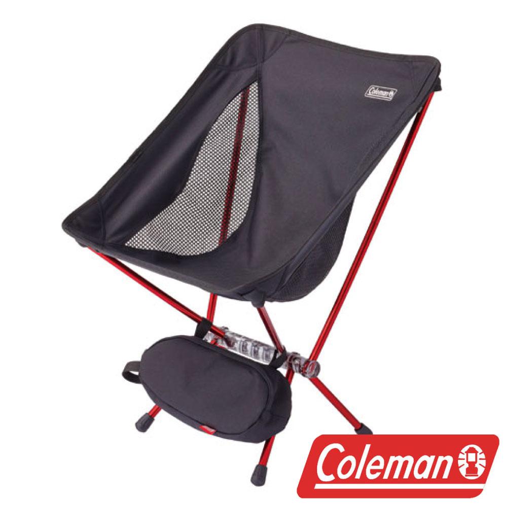 Coleman LEAF隨行椅黑超輕鋁合金折疊月亮椅摺疊椅休閒椅折疊椅折合椅CM-27855