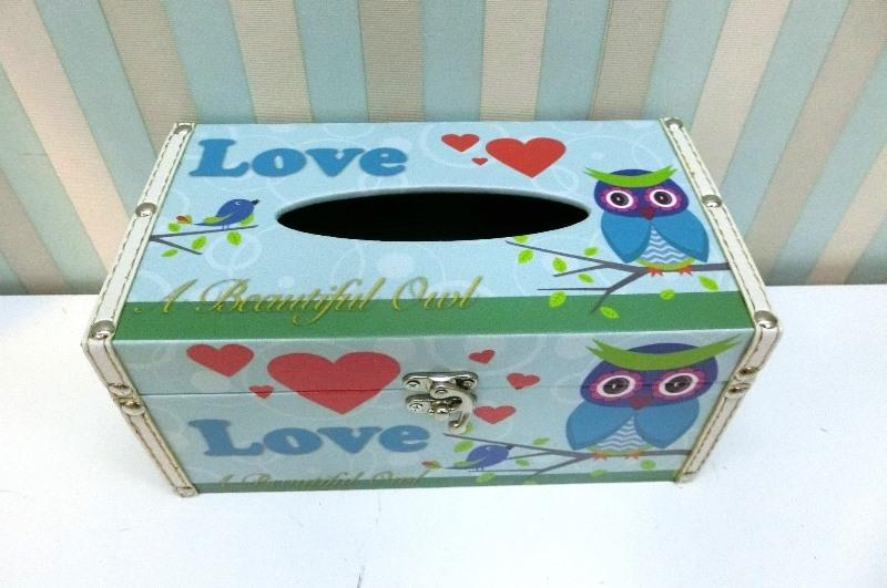木製長形面紙盒LA35 ZAKKA甜蜜小熊貼皮面紙盒皮革面紙盒木製面紙盒收納絢寓居家