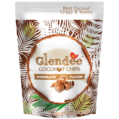 Glendee椰子脆片40g巧克力口味