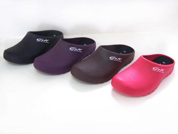『雙惠鞋櫃』C&K 台灣製造 女段 前包後空 廚房/飲料店 防潮防滑 柔軟舒適 廚師鞋 (CK-103)MIT