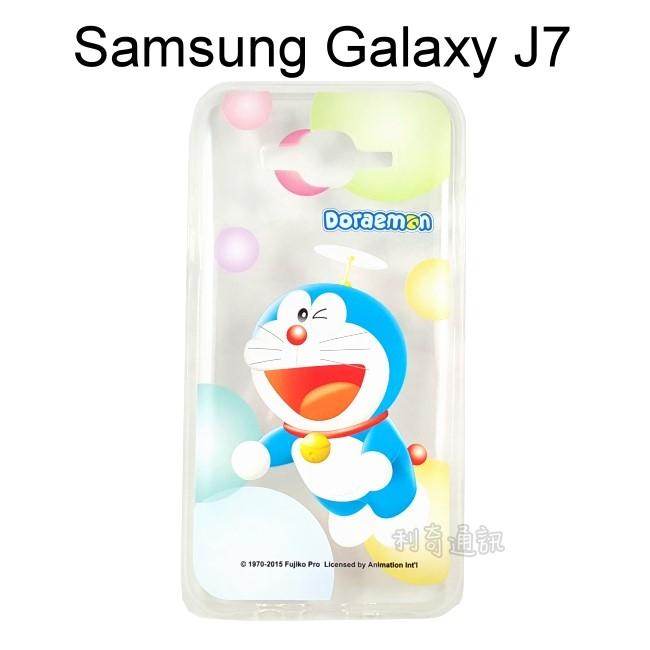 哆啦A夢透明軟殼 [氣球] Samsung J700F Galaxy J7 小叮噹【正版授權】