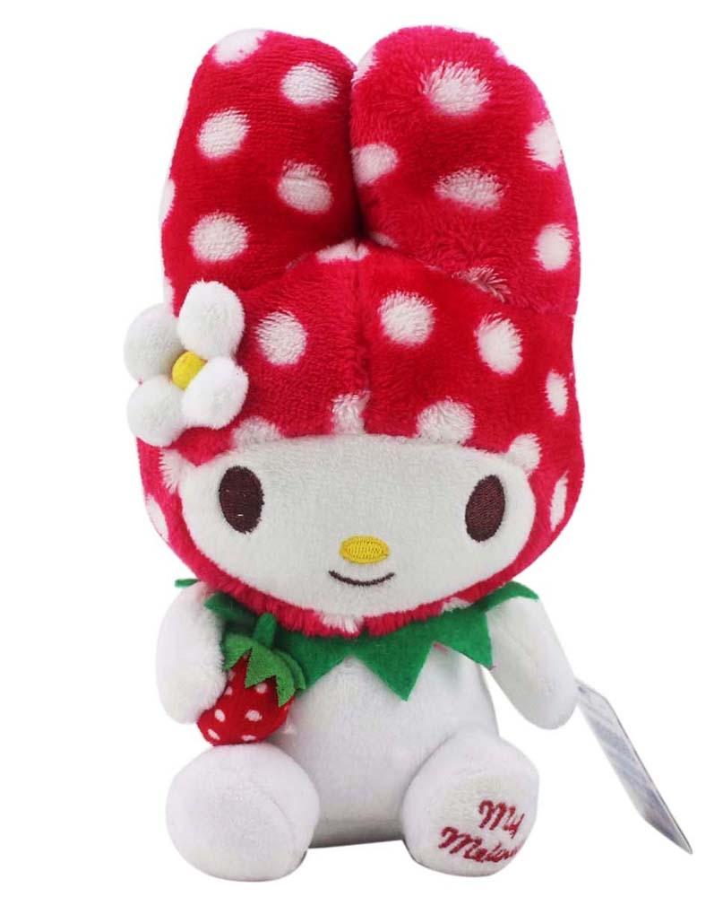 【卡漫城】 美樂蒂 草莓季 玩偶 約21cm高 ㊣版 娃娃 布偶 裝飾 擺飾 附吸盤繩 Melody 兔兔 絨毛