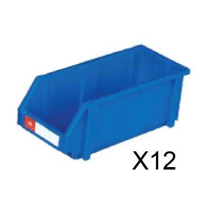 nicegoods耐衝擊整理盒寬20cm深45cm高17.7cm 12個箱塑膠盒整理盒收納盒