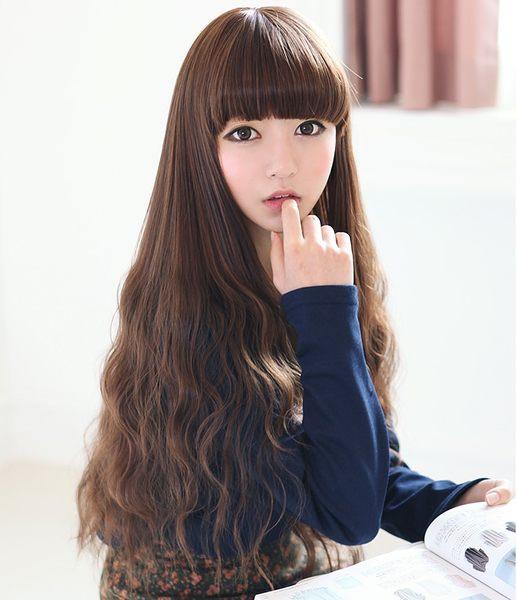 Kinkee假髮韓系高仿真啵棒夢幻洋娃娃三管電棒耐熱長捲髮H0088