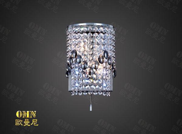 壁燈附拉鍊黑寶石水晶壁燈燈具燈飾專業首選歐曼尼進口水晶珠