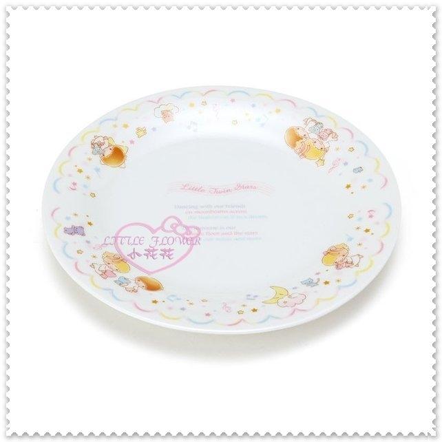 小花花日本精品雙子星kikilala小熊繽紛音符星星夢幻星空緞帶玻璃蛋糕盤裝飾盤57018805