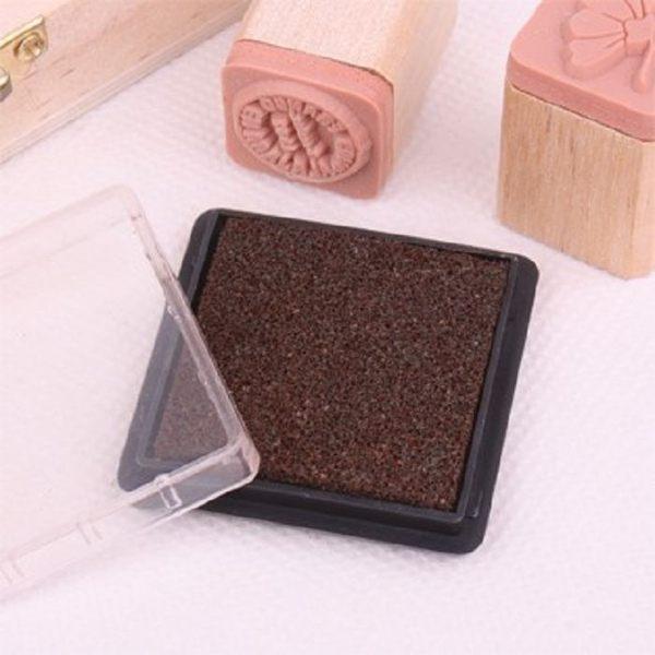 方盒彩色印泥(咖啡色)【魔小物】「現貨7」