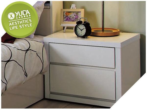 床頭櫃YUDA北歐風格凡斯波麗漆床頭櫃床邊櫃小矮櫃J7S 449-5