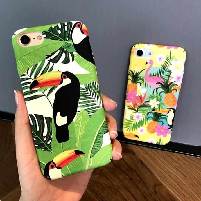 日韓清新文藝火烈鳥動物蘋果手機殼iPhone7 iPhone6 plus i6s i7保護套磨砂