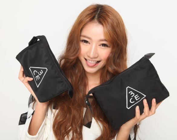 化妝包 3CE韓國女PU手拿防水大容量收納包