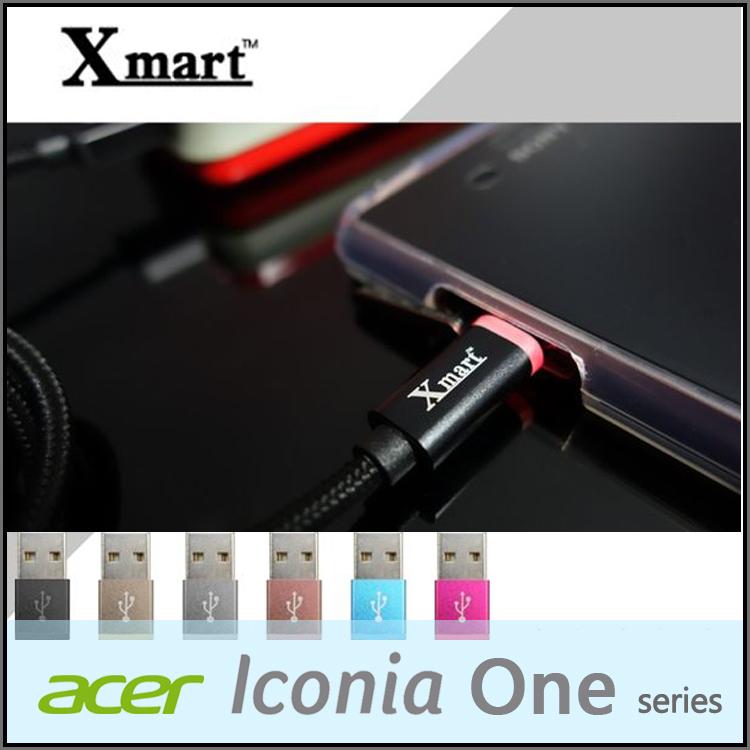 ☆Xmart Micro USB 120cm發光編織傳輸線/充電線/Acer Iconia One 7 B1-750/One 8 B1-820