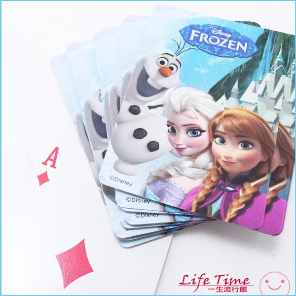 冰雪奇緣 正版 迪士尼 雪寶 撲克牌 玩具 派對 party 生日遊戲 poker D62045