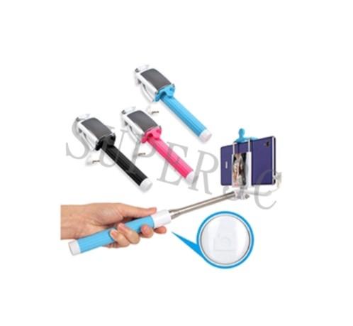 新竹超人3C ABIO線控七段式伸縮折疊迷你手機自拍架自拍鏡免藍芽配對OO-K-TZ07-6
