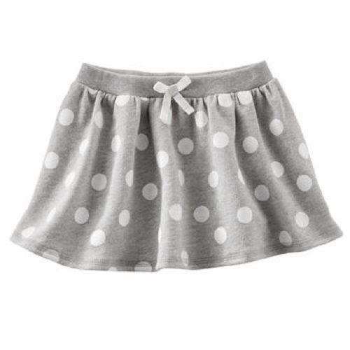 OshKosh裙子灰色白圓點小蝴蝶結短裙