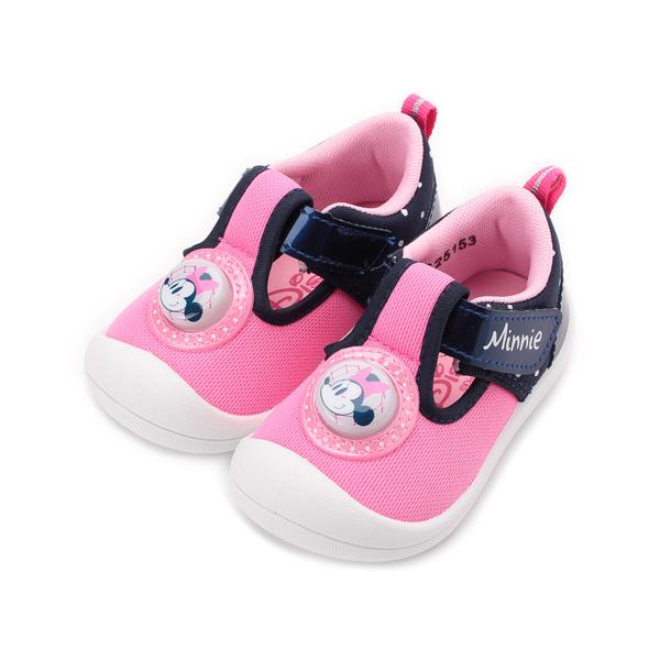 DISNEY 米妮電燈寶寶鞋 粉藍 中小童鞋 鞋全家福