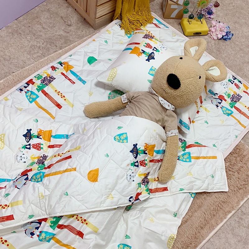 睡墊組 / 兒童標準【純真天賦】幼兒專用睡墊三件組  100%精梳棉  戀家小舖台灣製