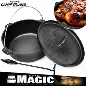 鑄鐵鍋萬用14吋巨無霸荷蘭鍋送舉升鉗煎烤鍋炒鍋油炸鍋燜燒鍋悶燒鍋推薦哪裡買MAGIC