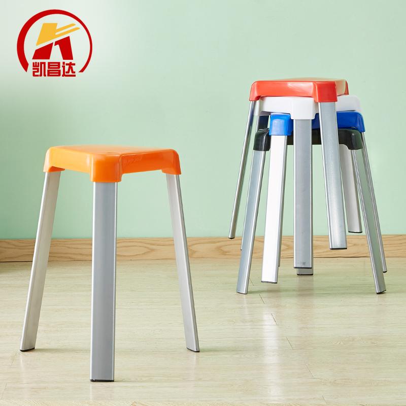 客廳高凳子時尚創意塑料椅子加厚成人餐廳餐桌凳家用現代簡約高凳預購CH1379