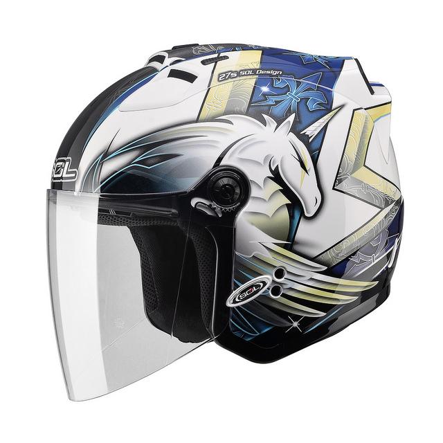 【SOL 27S 獨角獸三代 白藍 半罩 安全帽】內襯全可拆洗、免運 加贈好禮
