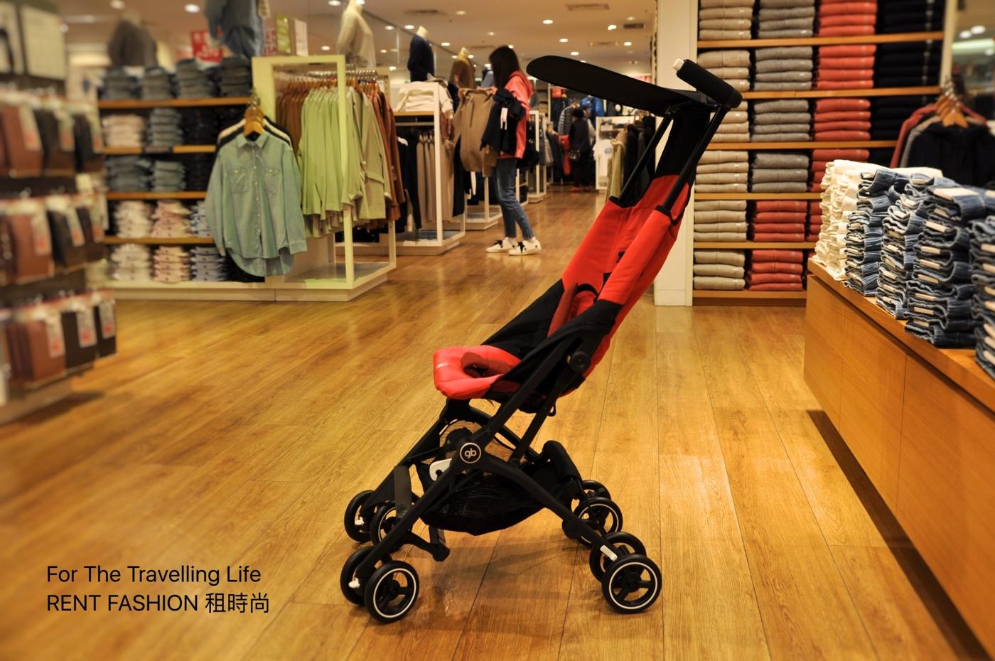 時尚品味嬰兒車出租日本口袋型推車POCKIT3代新生兒時尚紅推車出租