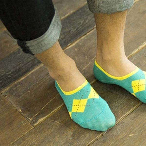 襪子FSM013英格蘭紋男生船型短襪短襪運動襪條紋襪純棉毛巾襪船型襪男女襪-SORT