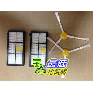 103玉山最低網Roomba 800 900系列吸塵器相容型邊刷Roomba 980 870 880邊刷濾網各2入