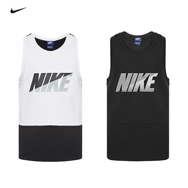 特價Nike大LOGO坦克背心727618-010黑色727618-100白色Av15 Tank