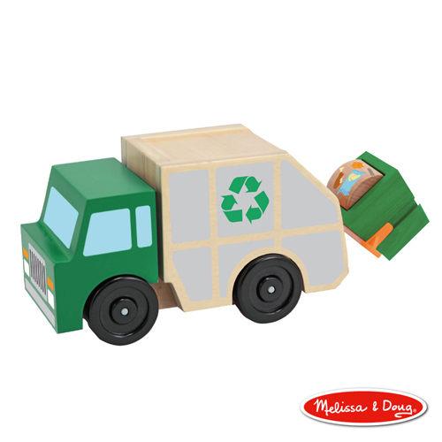 美國瑪莉莎Melissa Doug原木交通工具垃圾車