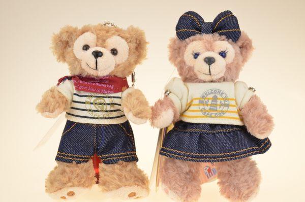 尼德斯Nydus*日本東京迪士尼海洋限定達菲熊雪莉梅基本款牛仔褲吊飾站姿