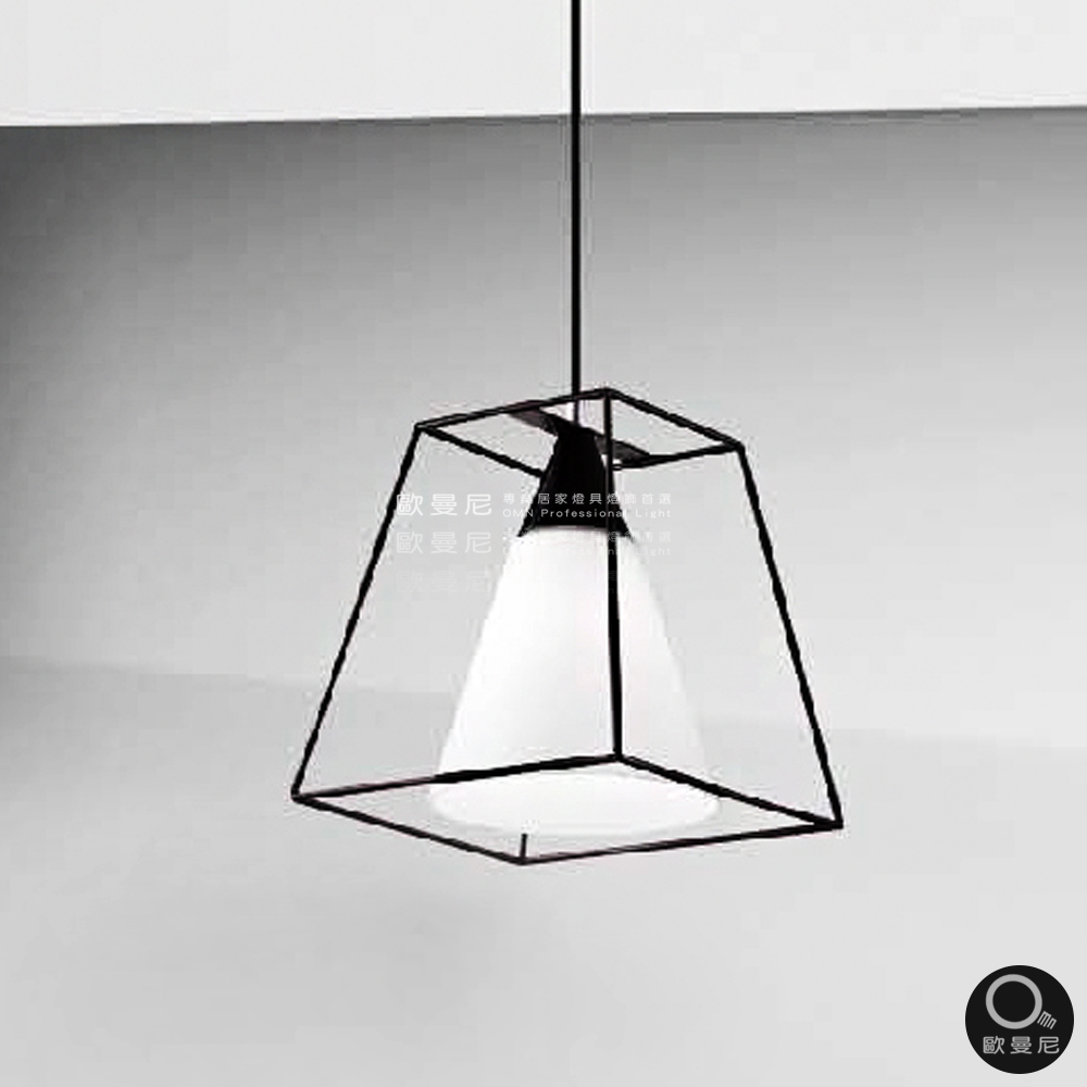 吊燈現代簡約幾何骨感玻璃透光吊燈單燈燈具燈飾專業首選歐曼尼