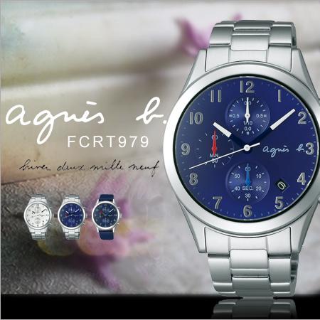 法國簡約雅痞agnes b.時尚腕錶40mm設計師款日本機芯防水FCRT979現貨排單