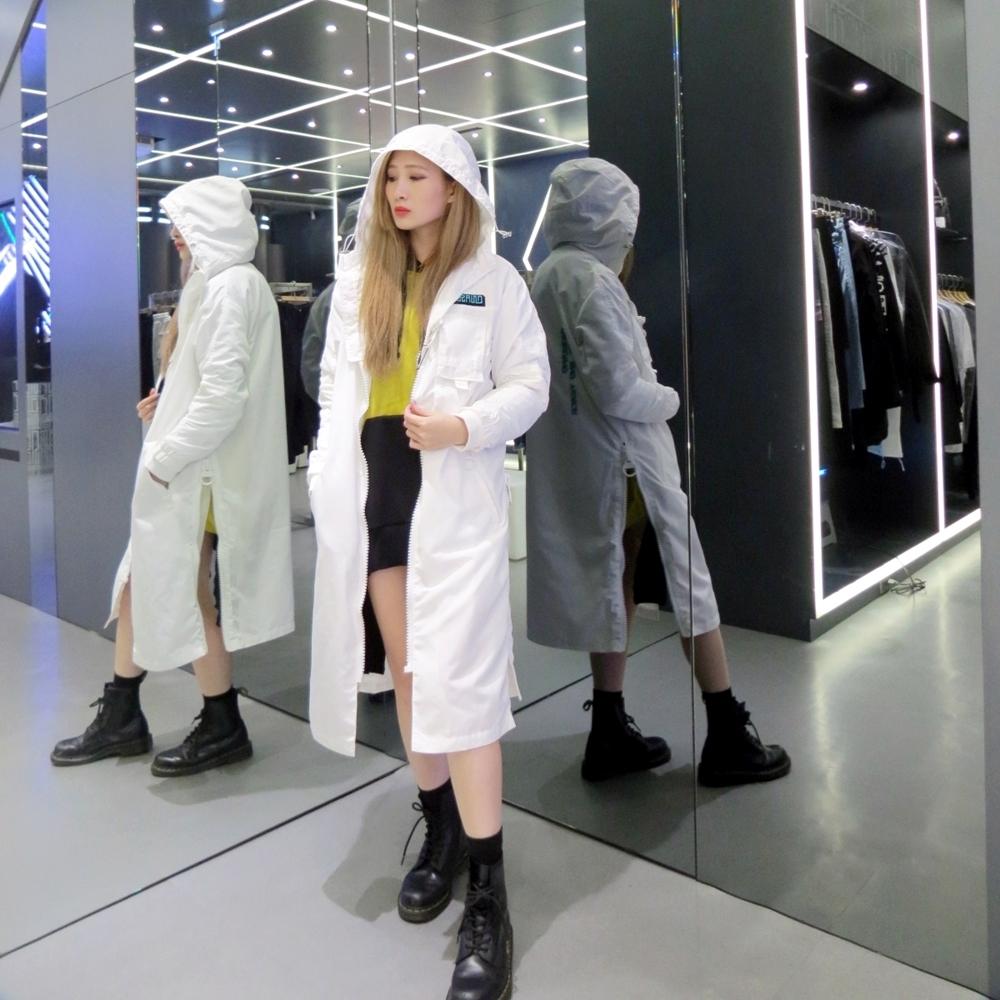 DEBRAND 反戰長版風衣-女-白