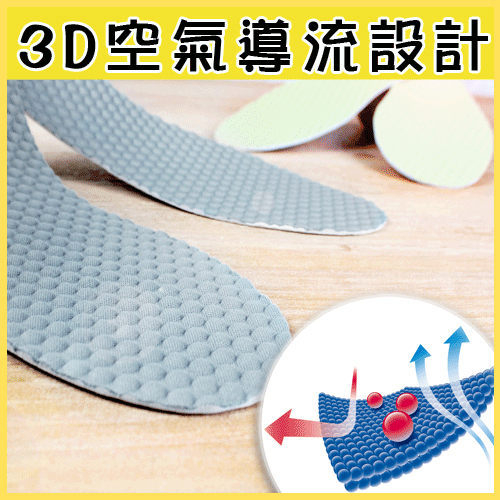 收納女王【IAA018】3D導流腳底按摩鞋墊*男女適用*