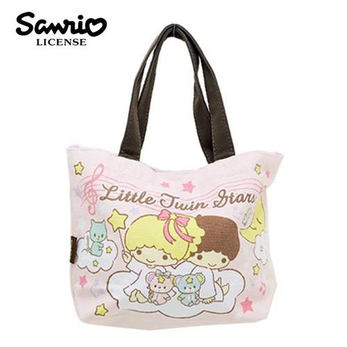 粉紅款日本進口雙子星KIKILALA帆布手提袋便當袋帆布包三麗鷗Sanrio 439071