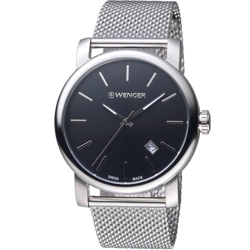 瑞士WENGER Urban 都會系列 經典米蘭帶紳士腕錶 01.1041.140
