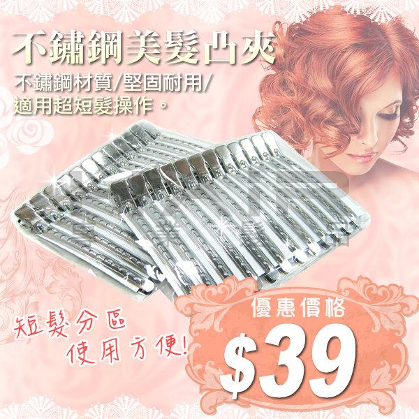 不鏽鋼美髮凸夾(單支) 固定/ 護髮 / 包頭  新娘秘書 / 美髮設計師 愛用【HAiR美髮網】