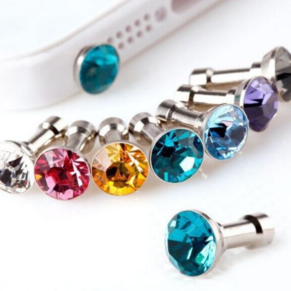 [只要1元] 韓國最新流行 耳機塞 耳機孔 水鑽防塵塞 手機平板耳機孔通用 3.5MM 耳機孔