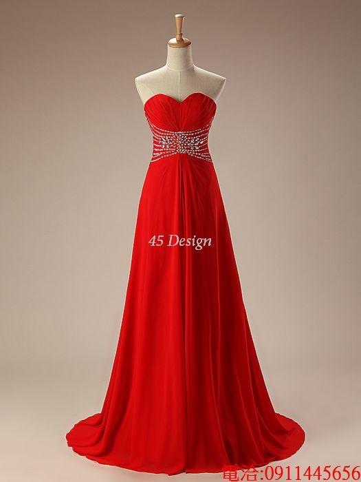 (45 Design)  7天到貨長板禮服婚紗禮服伴娘服 托尾晚禮服 結婚 訂婚長短裙  大小可做