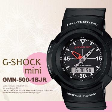 日限g-shock mini GMN-500-1BJR中性電子錶現貨排單熱賣中