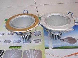 LED崁燈專賣店每入450 2.5寸筒燈壓鑄鋁筒燈LED天花燈LED筒燈帶散熱器3W含led崁燈燈泡