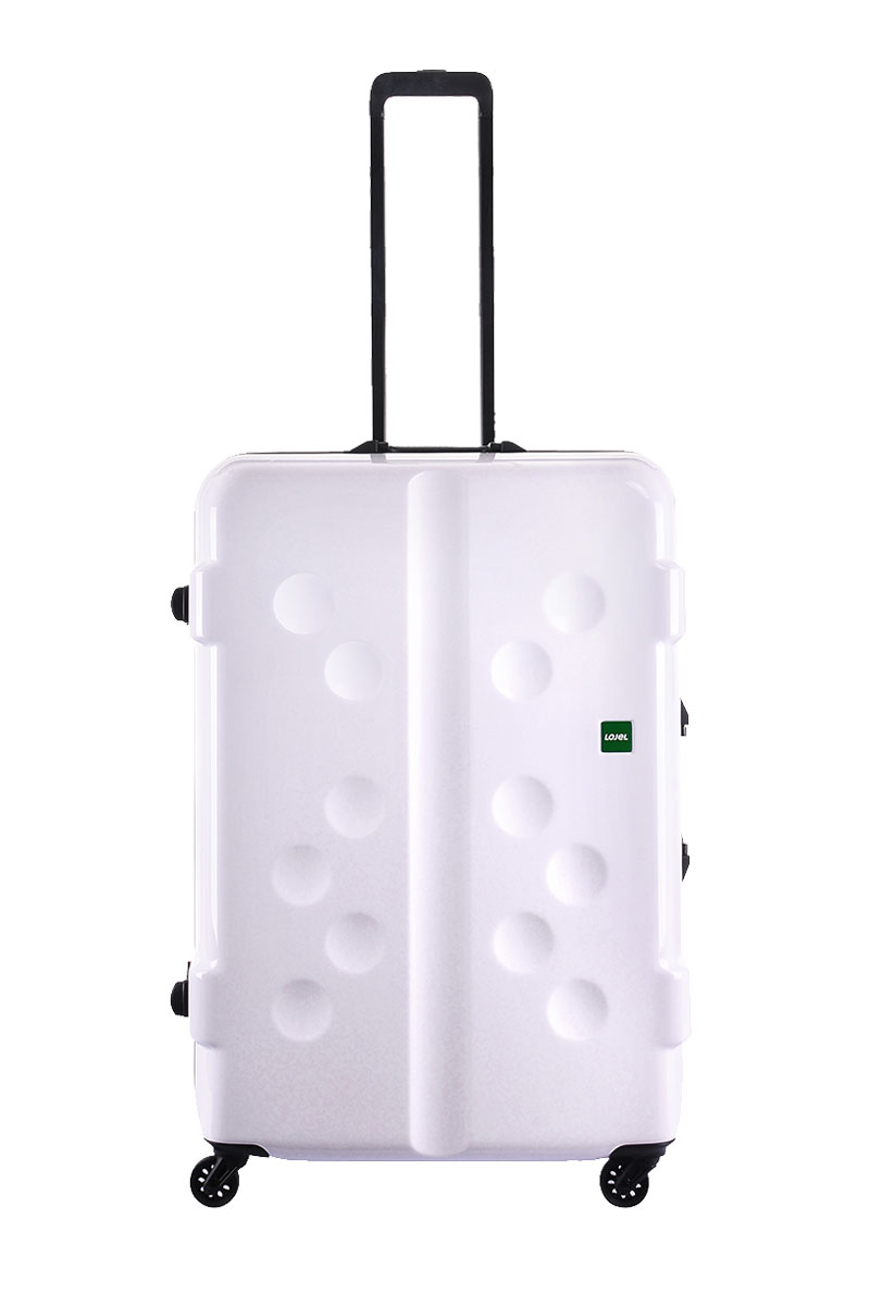 CROWN皇冠LOJEL CARAPACE鋁框行李箱旅行箱-27吋-白