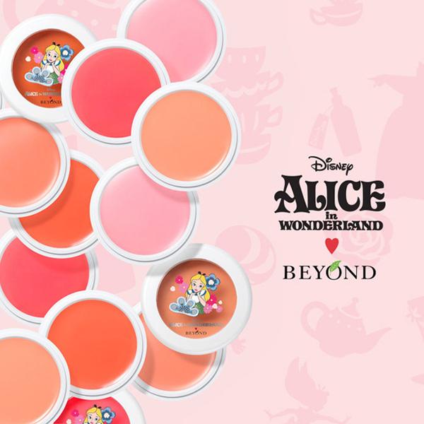 韓國BEYOND愛麗絲午茶奶油霜感腮紅膏5g巴黎草莓