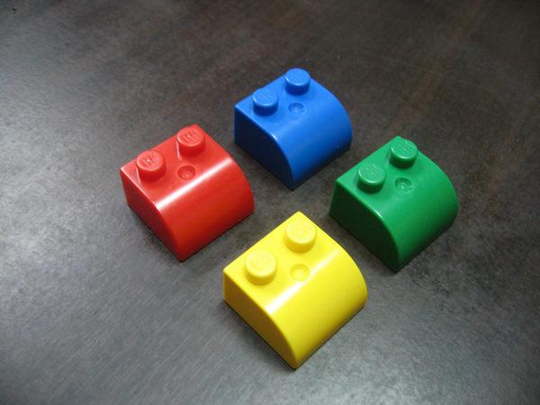 【台灣製我高OK積木】大顆粒 斜板 / 屋頂 積木塊(4入)