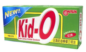 超值2件組日清Kid-O三明治餅乾-奶油檸檬口150g愛買