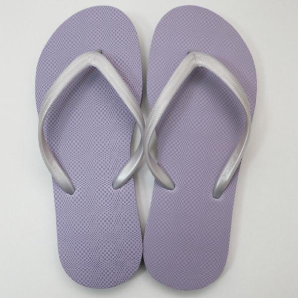 素色橡膠人字拖鞋 女款-粉紫 台製海灘拖 台灣製 人字拖 沙灘拖 夾腳拖 拖鞋 室內室外 兩用
