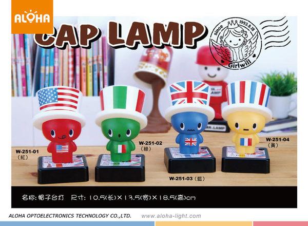 LED造型桌燈雪糕人帽子台燈W-251