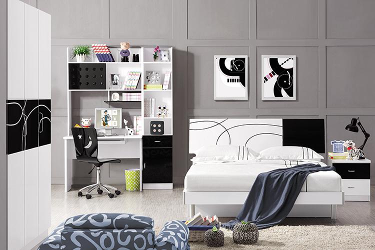 首雅傢俬黑白圓舞曲4尺單人加大床架加大床兒童床青少年單人床子母床