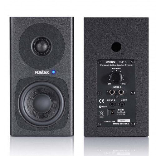 敦煌樂器FOSTEX PM0.3主動式監聽喇叭黑色一對桌上型