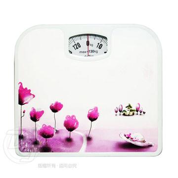 《一打就通》甜美花卉機械式體重計 TCL-66 ~經典時尚.耐用度佳~(鬱金香)